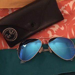 Raybans aviator flash sunglasses AUTHENTIC