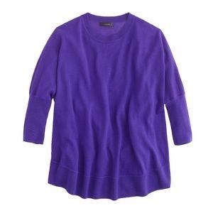 J. Crew Merino Wool Swing Sweater in Purple