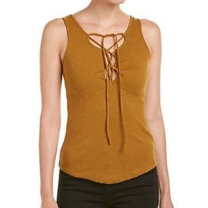 Free People EmmyLou Lace Up Tank Top NWT