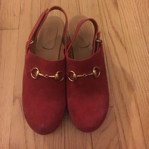 Gucci 'Amstel' horsebit clog, red, 40