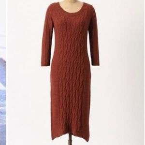 Anthropologie Sparrow Sweater Dress in Brown Sz XS