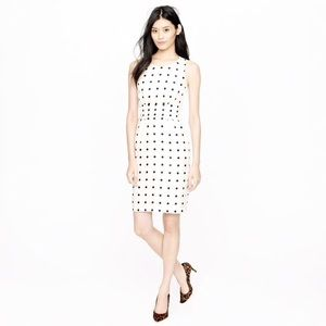 NWT. J. Crew dotted cummerbund dress