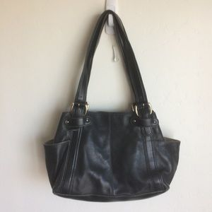 Liz Claiborne Black Double Strap Bag