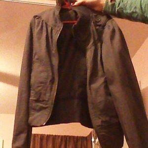 Charcoal gray f21 bomber jacket