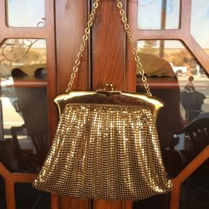 Whiting & Davis Golden Mesh Handbag Vintage
