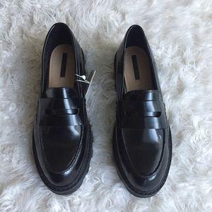 Zara NWT creeper loafers