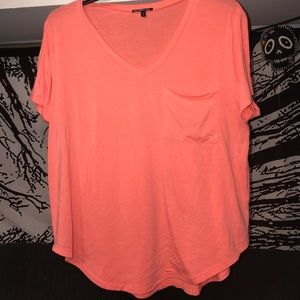 Charlotte Russe bright pink shirt
