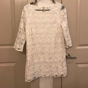 NWOT white lace dress size large
