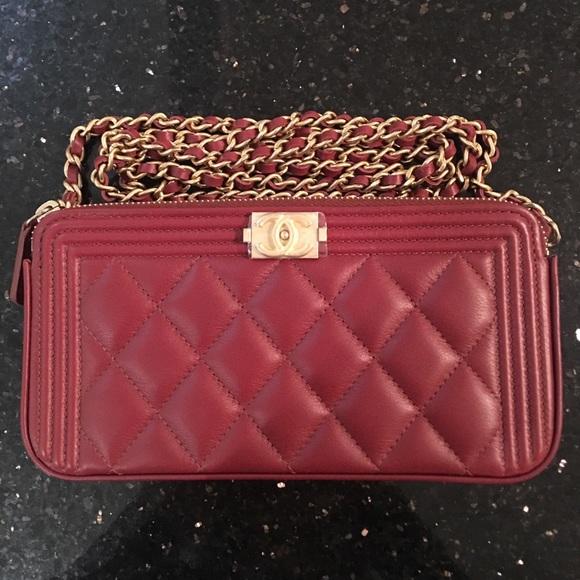 909afecdfcfbf NWT Auth. 17W Chanel Le Boy Wallet on Chain