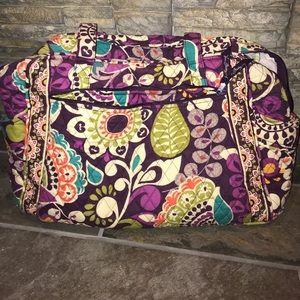 Vera Bradley Plum Crazy large diaper bag EUC!