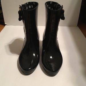Kate spade New York black rain boots new size 6