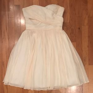 Cream Strapless Jcrew Dress