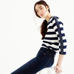 J. Crew blue Rugby-striped T-shirt S