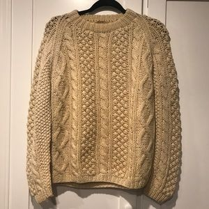 Chunky Cable Wool Vintage Sweater