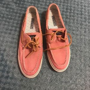 Burnt red Sperry topsiders - NEVER WORN