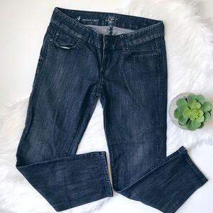 Ann Taylor LOFT Modern Capri Cropped Blue Jeans