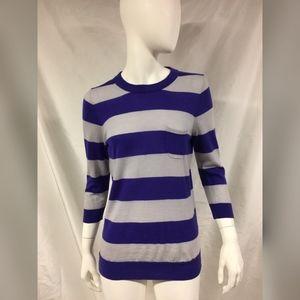 J.CREW Striped Tippi Rugby Merino Wool Sweater