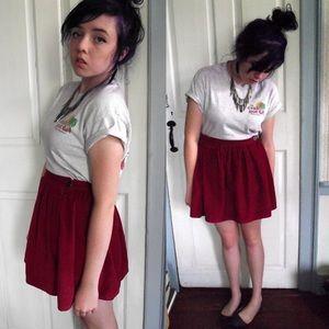 Cranberry corduroy circle skirt BDG 6