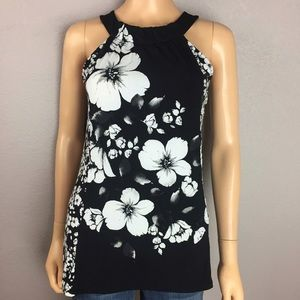 White House Black Market Floral Tank Top Small