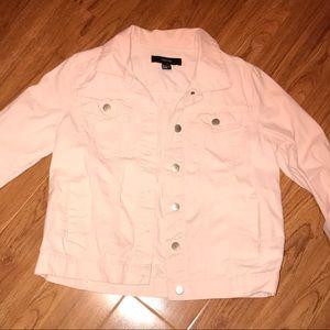 Pink Denim/twill trucker jacket 💕