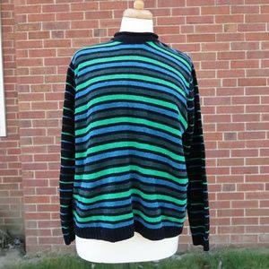 Vintage 70s 80s striped sweater no label