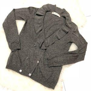 Zaraknit• Ruffle neck cardigan