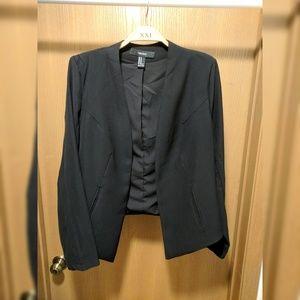 NWOT Forever 21 black open-front blazer size M