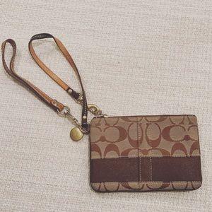 Coach Signature Wristlet Wallet
