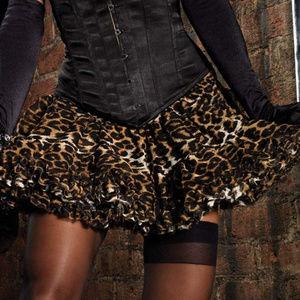 New Leopard Print Layered Tulle Petticoat Skirt
