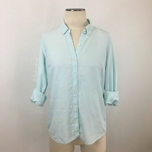 Gap- Light Seafoam Fitted Boyfriend Shirt SZ M