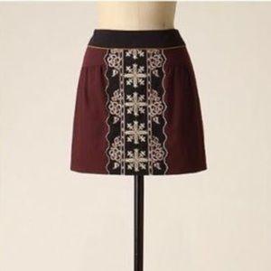Anthropologie Floreat Skirt Size 6 Boho Hippie