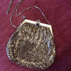 Vintage Bags - Metal Golden Whiting & Davis Co. Purse