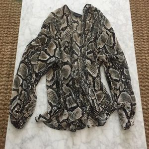Topshop SnakeSkin Kimono
