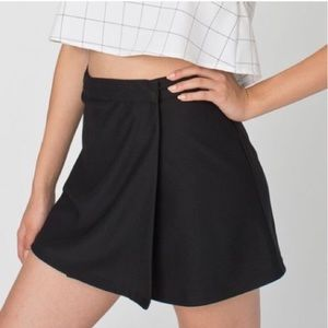 American Apparel Black Wrap Mini Skirt