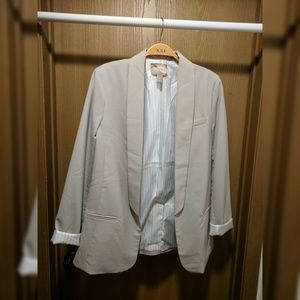 NWOT Forever contemporary longline blazer size S