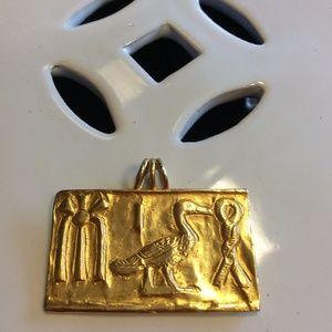 Museum of Modern Art Egyptian Golden Pendent 1976