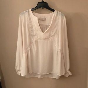 LOFT lace peasant blouse