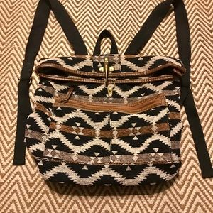 Aztec Tribal Print Backpack