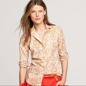 J. Crew Perfect Shirt in Islet Paisley