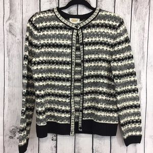 Talbots Cable Knit Cardigan Sweater