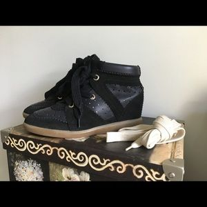 Isabel Marant Betty Midnight Leather 37