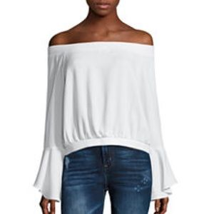 NWT iJeans by Buffalo Off Shoulder White Top XL