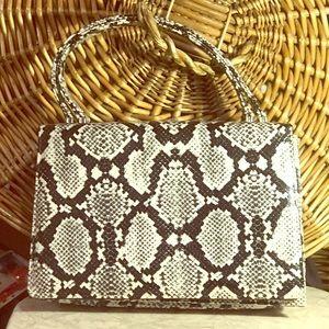 Vintage clutch handbag SNAKESKIN