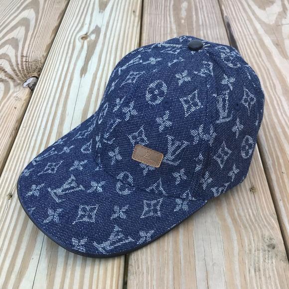 Louis Vuitton Other - Louis Vuitton Mens Cap Baseball Hap Blue LV Cap 3b34ea41ba5d