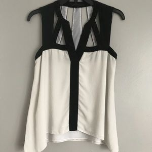 """Laurenne"" BCBGMAXAZRIA Cut Out Top"