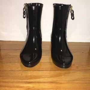 Kate spade New York black rain boots new size 7