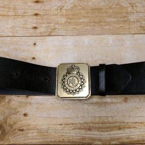 Lauren by Ralph Lauren Black Leather Belt