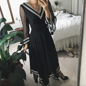 VINTAGE/ flowy sailor dress
