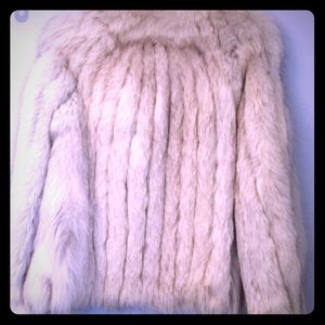 Vintage fox fur coat s/m white / silver fur