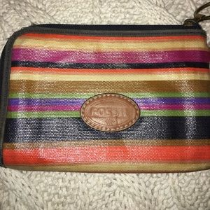 Fossil wallet with wrist strap